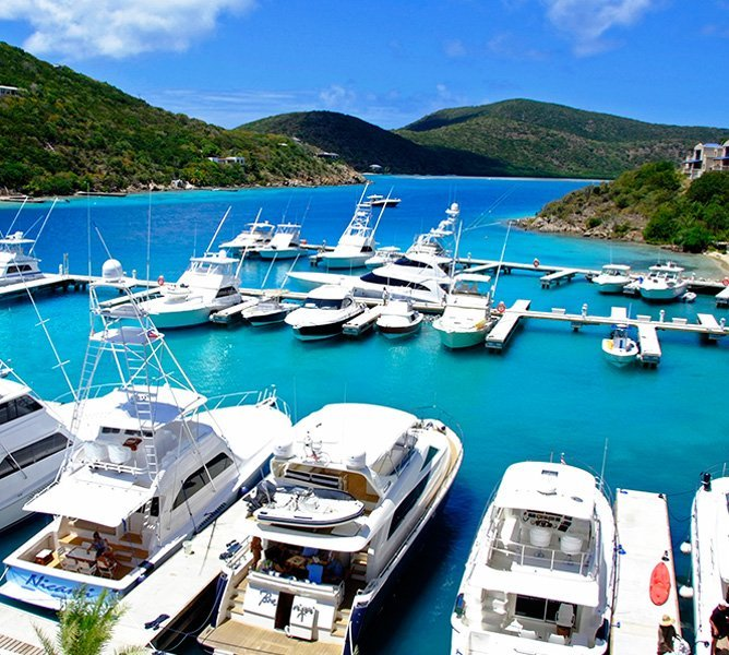 Scrub Island Welcomes Marina Eye Candy, Luxury Mega Yachts